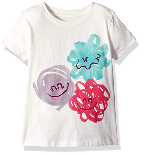 Gymboree Baby Girls Short Sleeve Graphic Tee, White Monster face, 2T