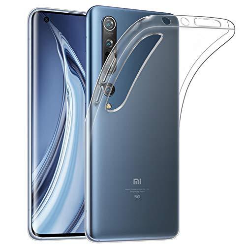 32nd Clear Gel Series - Gel Transparente in TPU Silicone Clear Case Cover per Xiaomi Mi 10 & Mi 10 PRO, Custodia Ultra Slim Cristallo Gel - Transparente