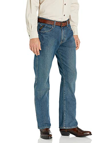 Ariat Men's M4 Rebar Low Rise Jean, Carbine, 40x34