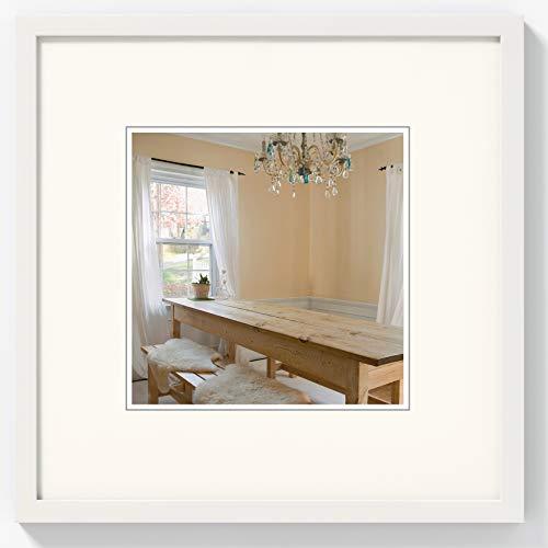 walther design BP020V Peppers Bilderrahmen, Holz, 20 x 20 cm, polarweiß