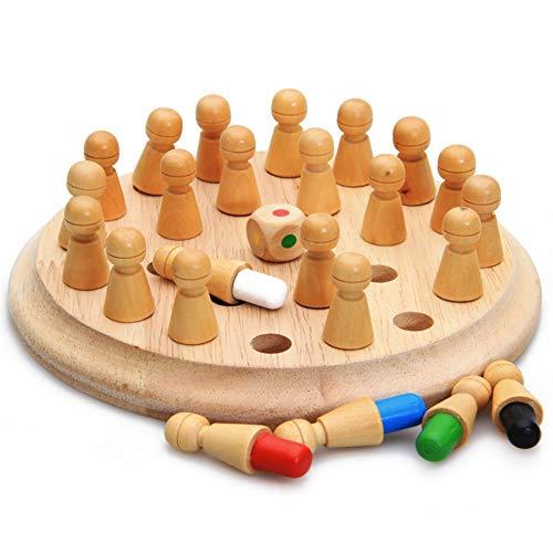 Kentop Ajedrez de Memoria Montessori para Niños Juguete de Madera para Bebé Educativo Aprendizaje Desarrollo de Memoria