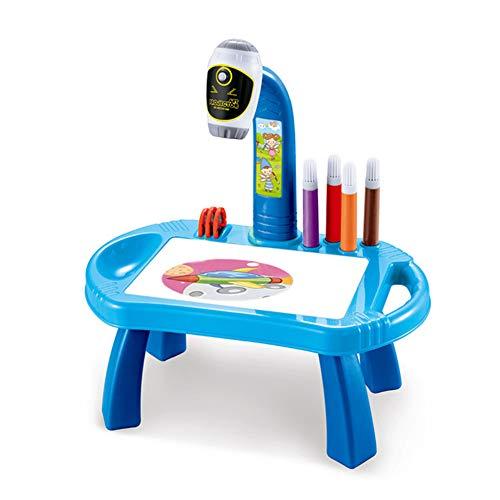 2021 Projektor-Kunst, Zeichentisch, Spielzeug, Malbrett, Schreibtisch, Malwerkzeug, Blau