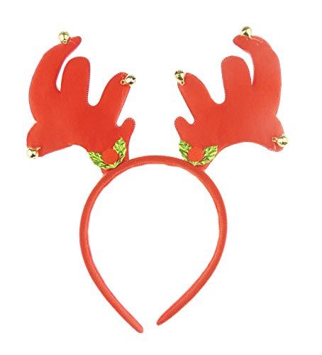 Dames Mens Feestelijke Kerstfeest Deeley Bopper Hoofdband Alice Band Antlers Klokken