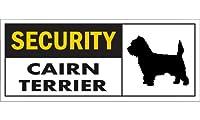 SECURITY CAIRN TERRIER ワイドマグネットサイン:ケアーンテリア Mサイズ
