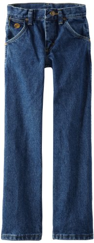 Wrangler Big Boys' Original Cowboy Cut George Strait Jeans,Heavy Denim Stone,12 Regular