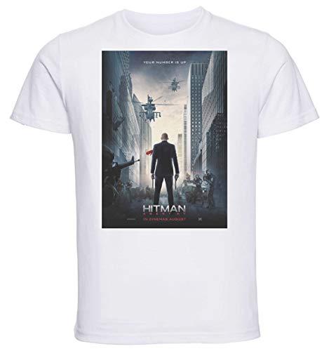 Instabuy T-Shirt Unisex - White Shirt - Hitman Agent 47