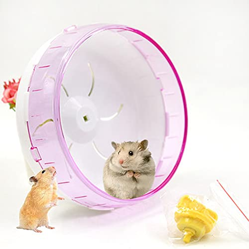 Ejercicio Juguete de Ruedas,17.5cm Hámster para Mascotas Rueda Silencioso Rueda de Ejercicio para Totoro Small Animal Pet Sports Training Toy Ayude a Las Mascotas a Mantenerse Saludables