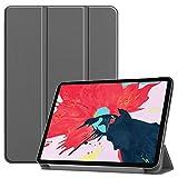 Wigento Premium Smartcover Grau Tasche Etuis Hülle für Apple iPad Pro 11.0 2020