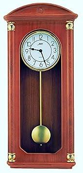Zeit.punkt Delsberg 345413 - Reloj de pared con péndulo (fabricado en Alemania, carcasa de madera maciza, BIM BAM Schlagg y Westminster)
