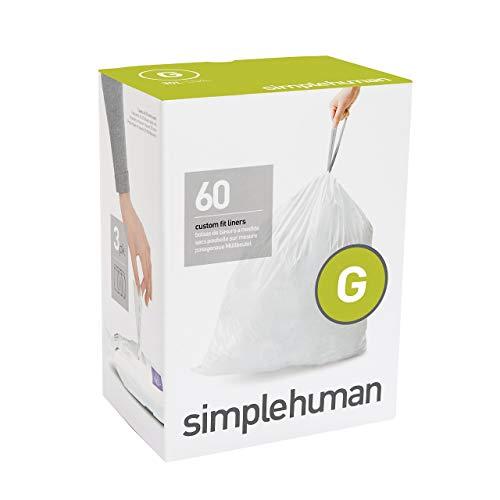 Simplehuman CW0257 Code G Afvalzak, 30L, Wit, 60 Stuk