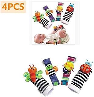 JUJU, Calcetines para Bebé, con Juguetes, Adecuado para bebé 0-6 Meses