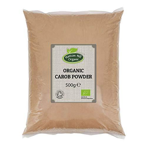 Bio Johannisbrotbaum Pulver, Carob Pulver 500g von Hatton Hill Organic – BIO zertifiziert
