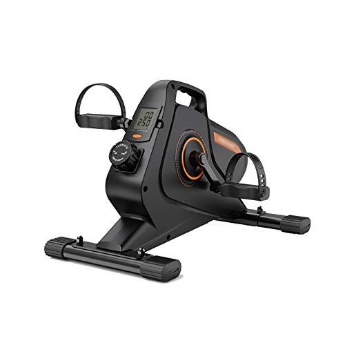 QAX Elíptica Stepper,Bicicleta estática de Interior con Pantalla LCD,Mini Bicicleta de Oficina en casa Ajustable de 8 velocidades
