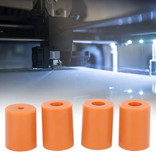 Silicone Leveling Column Heatbed Silicone Tool Durable Hot Bed Buffer Leveling Orange Heat-Resistant for 3D printer Ender 3 Pro for 3D printer Ender-2