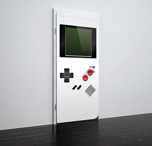 Life Decor Etiqueta de la pared de la puerta en PVC Matt Vinyl Piedras blancas 78cm x 200cm