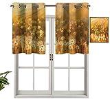 Hiiiman Cenefa opaca con ojales, estilo vintage, set de 1, 132 x 45 cm, para el hogar
