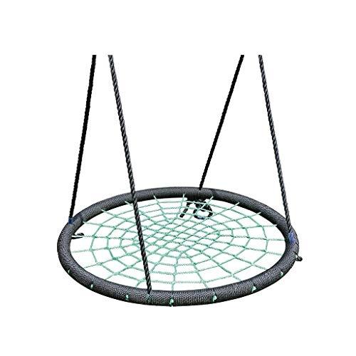 xiaodou Al Aire jardín Hamaca Columpio Exterior Lanyard Ajustable Spider Web Diámetro 39 Carga máxima Teniendo 200 KG Columpio Jardín (Color : Green, Size : A)