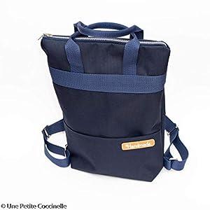 DIY Nähset/Nähpaket Rucksack/Shopper 37cm x 30cm dunkelblau
