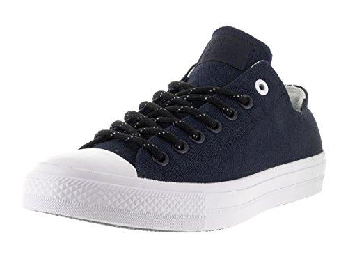 Converse Unisex Chuck Taylor All Star Ii Shield Ox Sneaker, niebieski - niebieski, ciemnoniebieski, biały, ciemnoniebieski, biały. - 37.5 EU