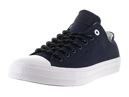 Converse Unisex-Erwachsene Chuck Taylor All Star II Shield OX Sneaker, Blau (Dunkelblau/Weiß Dunkelblau/Weiß), 37 EU