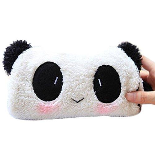 Panda Soft Etui, leuke dieren pluche pennen tas handtas, multifunctionele schrijfwaren/cosmetica/kaartzak make-up tas