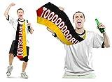 HAAC Mega Krawatte Tor Länge 120 cm in Deutschlandsfarben Deutschland Fußball 2014
