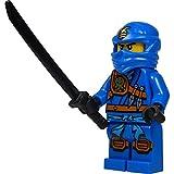 LEGO Ninjago: Jay (blue ninja) Minifigure with Katana (sword) 2015 version - Zukin