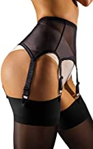 sofsy Mesh Garter Belt with Straps for Stockings/Lingerie (Garter Belt Sold Separately from Stockings) - Black Medium