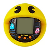 TAMAGOTCHI BANDAI 42862 Nano-Pac-Man Black Version with Case-Feed, Care, Nurture, with Chain for on The go Play-Electronic Pets