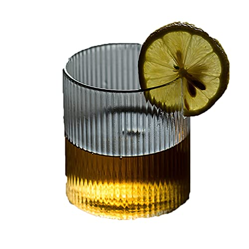 GQQ Taza de Cristal de Estilo Japonés con Alta Temperatura. Taza de Té de Rayas Vertical Hecha a Mano Creatividad Taza de Bebida de Jugo de Oficina de Oficina Copa de Vidrio/Color puro