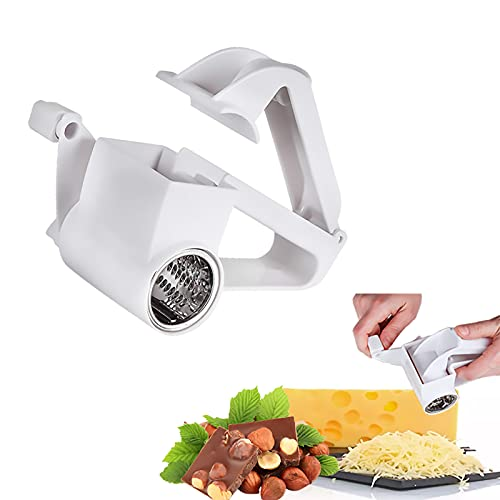 YFDSPSM Rotary Cheese Grater, Hand-Operated Mini Stainless Steel Parmesan Cheese Grater-a Hand-Operated Kitchen Tool for Grating Hard Cheese,Butter, Etc.