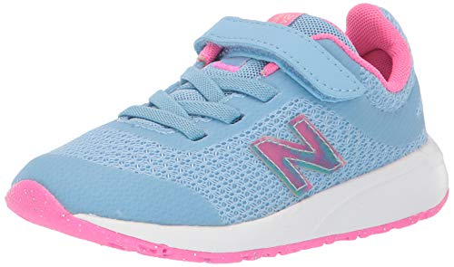 New Balance Kid's 455 V2 Alternative Closure Running Shoe, Summer Sky, 4 W US Toddler