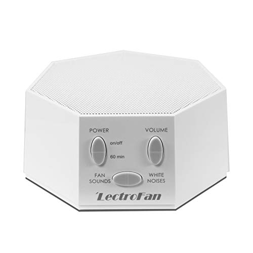 LectroFan ASM1007-G Weißes Rauschgerät mit Lüftergeräuschen und Schlaf-Timer (Weiß)
