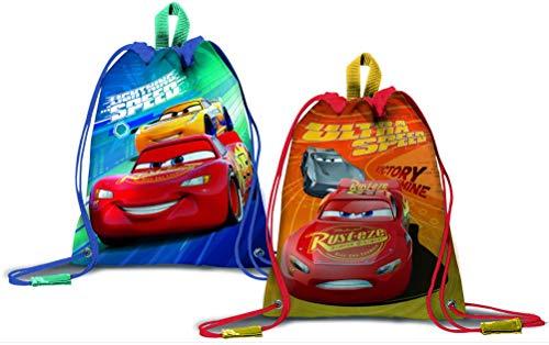 Cars Kinder Turnbeutel Rucksack Tasche Beutel 2 STÜCK !!! Blau + Orange