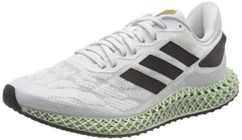 adidas 4D Run 1.0, Zapatillas para Correr de Diferentes Deportes Hombre, Ftwwht Cblack Goldmt, 44 2/3 EU