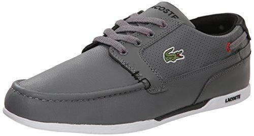 Lacoste Men's Dreyfus Fashion Sneaker, Grey/Black, 13 M US