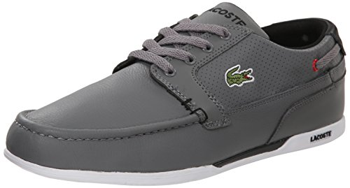 Lacoste Men's Dreyfus Fashion Sneaker, Grey/Black, 13 M US