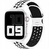 Fengyiyuda Reemplazo Deportivo de Silicona Compatible con Correa Apple Watch Pulsera 38 mm 40 mm 42...