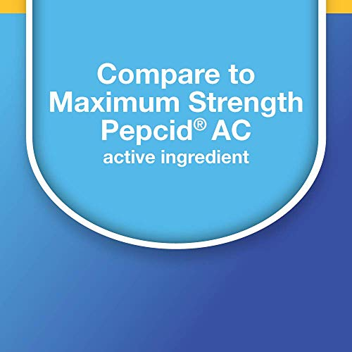Amazon Basic Care Maximum Strength Famotidine Tablets 20 mg, Acid Reducer for Heartburn Relief, White, 200 Count (Pack of 1)