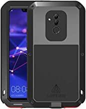 GFU Full Body Huawei Mate20 Lite Case TPU Bumper Heavy Duty Protection Armor Aluminum Shockproof DirtProof Hybrid Tempered Glass Outdoor Metal Shell Cover for Huawei Mate 20 Lite 6.3 inch (Black)