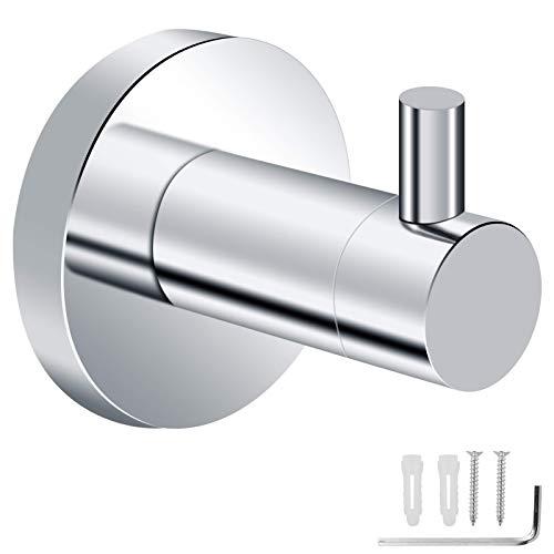 Gancho de pared diycreative, estante flotante de pared, ganchos de baño ganchos de toalla de acero inoxidable para baños montados en la pared ganchos de pared de pared gancho roba gancho cromo ganchos