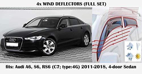 Mrp Windabweiser für Audi A6 S6 RS6 (C7; Typ 4G) Acrylglas Seitenblenden PMMA