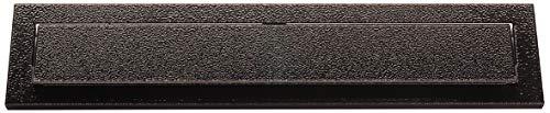 Arregui C604 Bocacartas de Acero, 248 x 73 mm, Negro