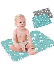 SaponinTree wodoodporna pieluszka zmieniająca mocz dla niemowląt podkładka na mocz, wodoodporny arkusz dla dzieci, wielokrotnego użytku pieluchy wielofunkcyjna zmywalna mata do domu i na zewnątrz