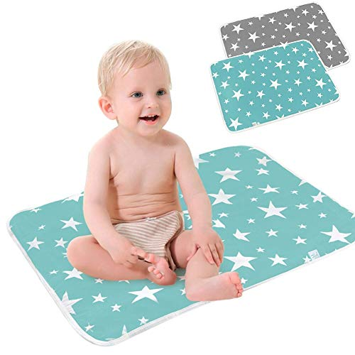 SaponinTree Waterproof Diaper Changing Baby Urine Pad, Baby Waterproof Sheet, Reusable Nappy Multi Function Washable Mat for Home and Outdoor