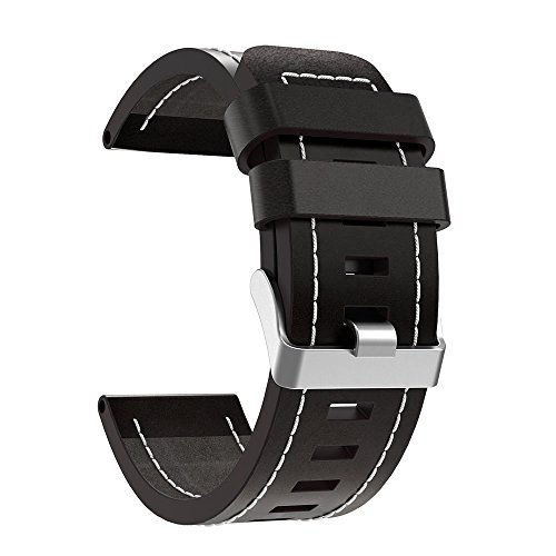 Read About XZZTX Compatible with Garmin Fenix 5X Watch Strap, Genuine Leather Replacement Band Wrist...