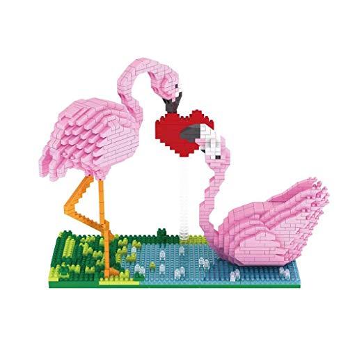 DIY Bouwstenen Spelling Micro-boren Kleine Deeltjes Spelling Blokken Bouwstenen Flamingo Vakantie Geschenken Handgemaakte DIY Valentijnsdag Gift