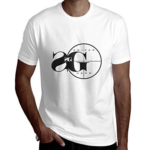 Wbydgoigo Shirt Sniper Gang Mens Fashion Short Sleeve Shirts White