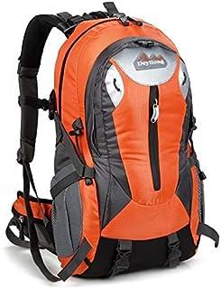 SHYPwM Hiking Backpack Waterproof Backpack Customer Camping Hiking Backpack with Rain Cover (Color : Orange)