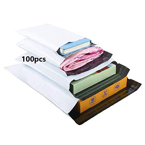 HVDHYY Enveloppe Plastique Expedition Emballage Colis Vetement Sac Mixte Expedition Lot de 100 Pièces C5 A4 B4 A3 Blanc Sachet Pochette Envoie Colis Sacs dexpédition Conditionnements Polystyrène